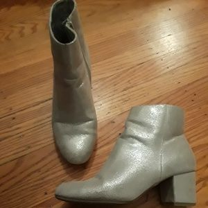 Silver boots size 9